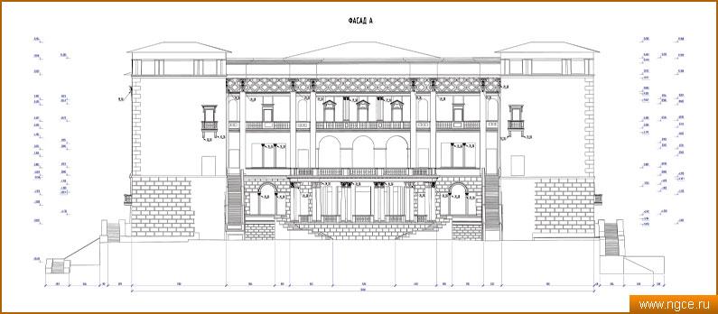 Чертежи фасадов зданий