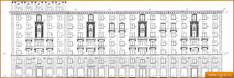 Схемы фасадов зданий