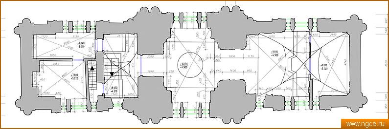 плана колокольни храма на