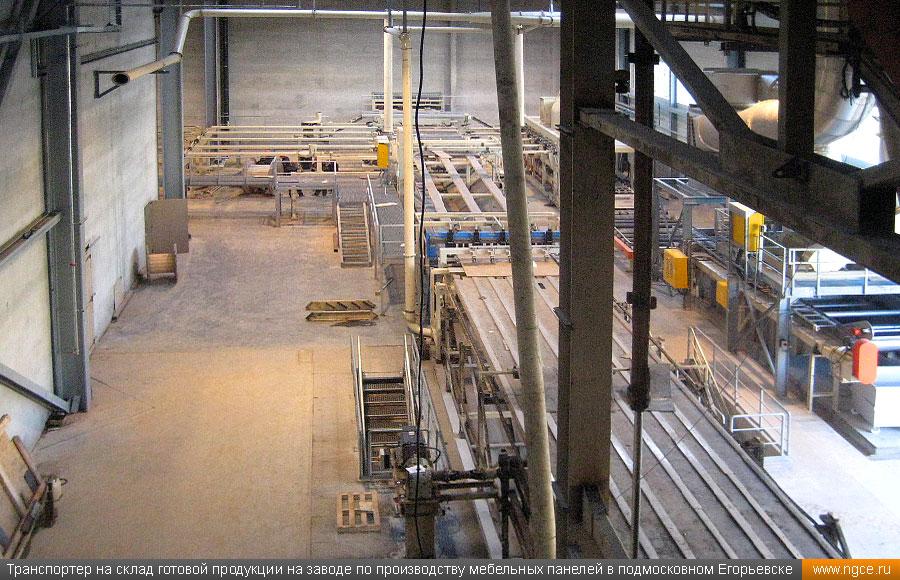 Завод по производству мебельных панелей.